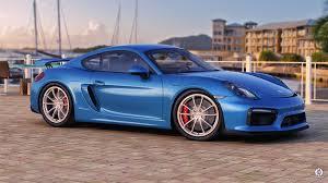 Photo Collection Blue Porsche Cayman Gt4 Wallpaper