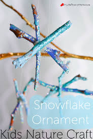 snowflake ornament winter crafts with sticks for