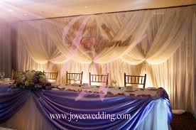 Wedding Head Table Decorations by Reception Backdrop Ideas Joyce Wedding Services Joyce Wedding
