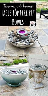 Firepit Bowls 21 Warm Diy Tabletop Bowl Pit Ideas For Small Spaces