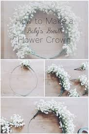 how to make baby flower headbands how to make a baby s breath flower crown flower crowns crown