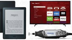 amazon black friday deals for skywalker board today u0027s best deals 50 kindle cheap 4k tvs discounted dremel
