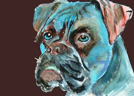 boxer dog art brindle boxer dog art canvas print of la shepard by thedoglover