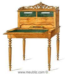 bureau à gradin bureau plat louis xvi meuble de style