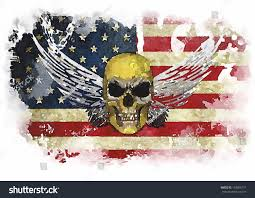 Vintage Flag Art American Flag Vintage Textured Background Us Stock Illustration