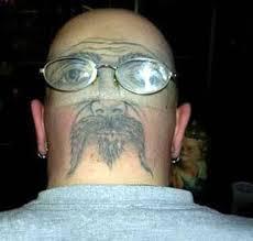 tattoo back face nice face back head tattoo