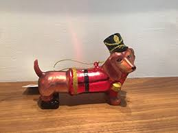 4 5 inch toy soldier dog dachshund glass ornament oodles of