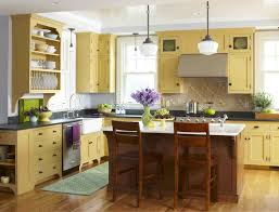 stunning pastel yellow with gray kitchen natural lights marble