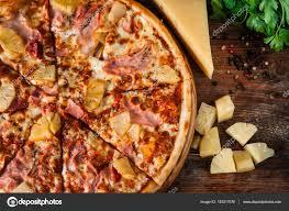 cuisine italienne pizza cuisine italienne pizza hawaïenne proches vue photographie