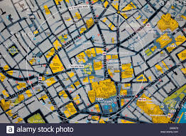 York England Map England London Leicester Square Tourist Information Map Stock