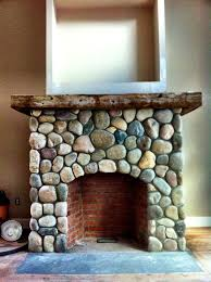river stone veneer fireplace sapia builders corp