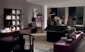 Black Livingroom Furniture Astounding Modern Brown And Black Living Room Decoration Using