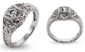 style wedding rings is beautifully crafted in art deco style for a