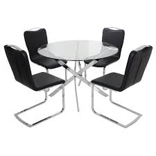 Glass Dining Sets 4 Chairs Furniture Dining Chairs For Glass Table On Room With 3 Excellent