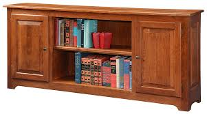 Cherry Wood Bookcase With Doors Hoot Judkins Bookcases Doors Bookshelves Shaker Cherry Heritage