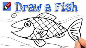 how to draw a fish real easy step by step youtube