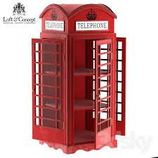 Red Phone Booth Cabinet 3d Models Wardrobe U0026 Display Cabinets Showcase London Telephone Box