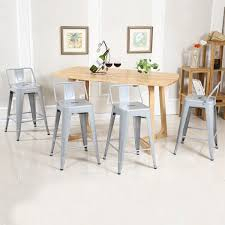 low back indoor outdoor counter height stools set of 4