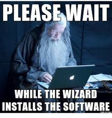 please wait while the wizard installs the software made on imgur