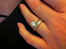 plain engagement ring with diamond wedding band plain band engagement rings show me your wedding bands
