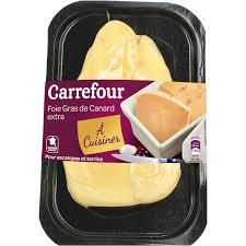 cuisiner un foie gras frais foie gras de canard à cuisiner carrefour carrefour le paquet