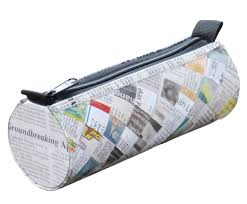 tube pencil case newspaper free shipping pencil pouch