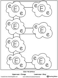 recognize uppercase and lowercase letter e myteachingstation com