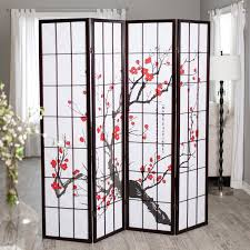 Cherry Home Decor Have To Have It Cherry Blossom Rosewood 4 Panel Room Divider