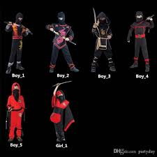 Captain Halloween Costume Boys Girls Captain Ninja Costumes Halloween Party Cosplay Fancy