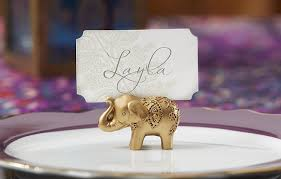 table top place card holders amazon com kate aspen lucky golden elephant place card holders set