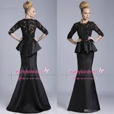 black half long sleeve mother of the bride dresses 2015 janique