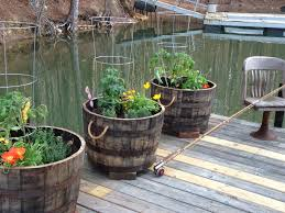 whiskey barrel planters drill drainage holes in bottom layer