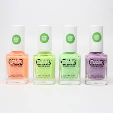 color club glow in the dark nail polish 2015 neon set of 4 colors