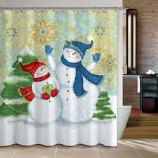 Snowman Shower Curtain Target Top 40 Beautiful Designs Of Christmas Bathroom Curtains