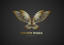 free golden wings logo vector free vector stock