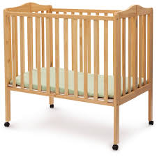 Mini Cribs by Delta Children Folding Portable Crib With Mattress Walmart Com