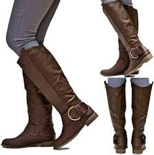 womens yard boots womens ej2 brown buckle cowboy knee high boots
