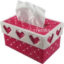 tissue paper box creative embroidery 3d cross stitch tissue paper box fabric