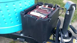 dual golf cart battery for t b trailer youtube