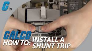 installing a shunt trip in abb tmax enclosed circuit breaker