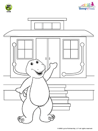 barney friends barney u0027s train caboose coloring pbs kids