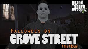 warning blood gore halloween on grove street gta 5 horror