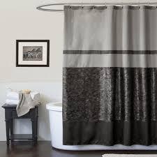 Lush Shower Curtains Lush Decor Sky Blackgray Shower Curtain Home Bathroom