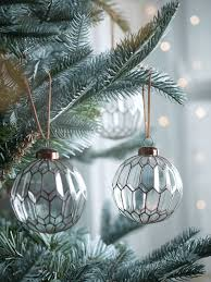 christmas tree decorations traditional christmas glass baubles uk