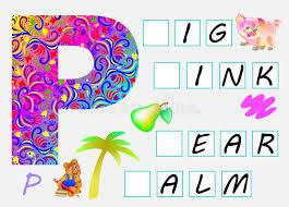 imagenes en ingles con la letra p página educacional para crianças com letra p para o inglês do estudo