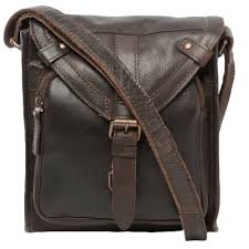 Mens small leather travel bag brown plato mens leather bags