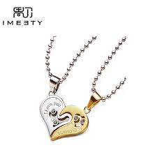custom necklaces for couples imeety custom necklace jewelry engraved name necklace zircons