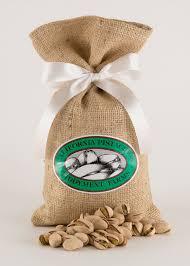 small burlap bags pistachios in burlap bag