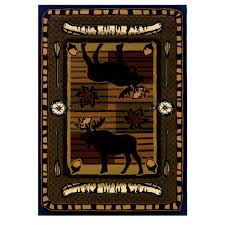 Moose Area Rugs Wilderness Terracotta Moose Area Rug Free Shipping The