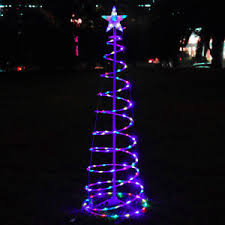 5 ft color changing led spiral tree light